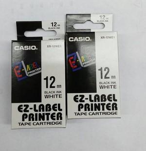 harga Ez-label printer casio 12mm black ink white xr-12we1 Tokopedia.com