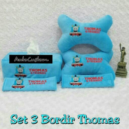 harga Bantal mobil 3 in 1 bordir thomas and friends Tokopedia.com