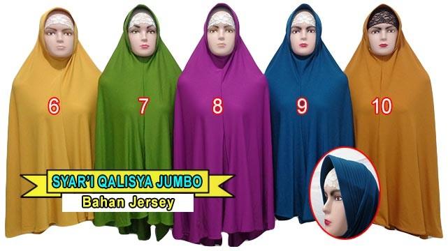 Jual Jilbab Bergo Jumbo Qalisya Cantik Dan Murah Syar I Hijab