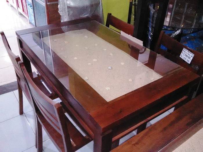 Kursi Kayu Bekas Jogja  jual meja makan prancis 4 kursi kayu jati kab sleman ajeg mebel jogja tokopedia