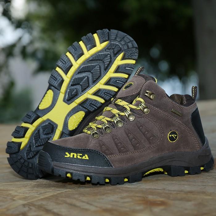 harga Sepatu gunung/hiking/boot/outdoor/waterproof snta 607 brown yellow Tokopedia.com