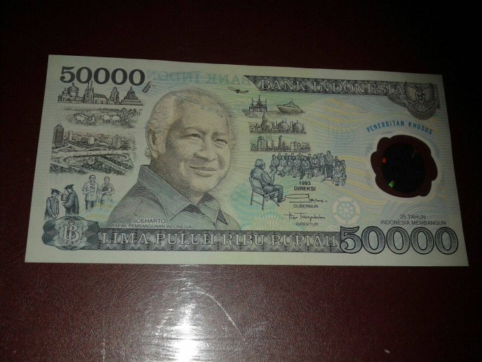 harga Uang Kuno 50.000 Polymer 50000 Soeharto 50rb Plastik Koleksi Mahar Tokopedia.com