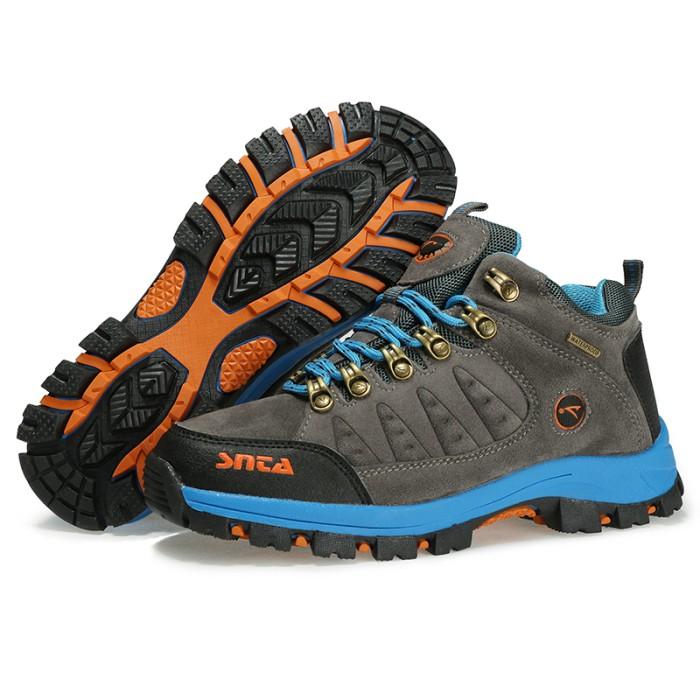 harga Sepatu boot gunung/outdoor wanita - snta 607 grey/lt.blue waterproof Tokopedia.com