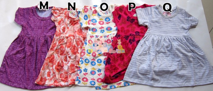 Dress bayi anak motif size m