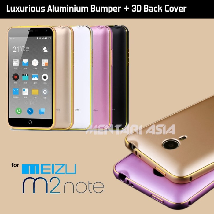 harga Bumper meizu m2 note: luxury armor bumper with 3d curved pc back cover Tokopedia.com