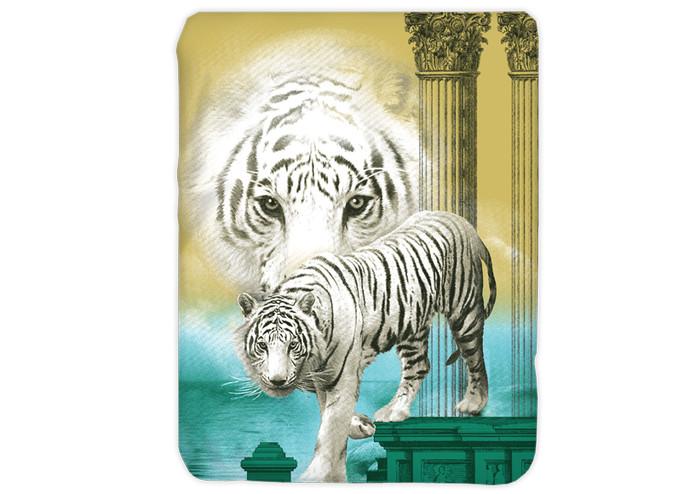 Jual Selimut Kendra 3d White Tiger Kota Tasikmalaya