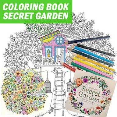 Jual Coloring Book Buku Mewarnai Secret Garden Size