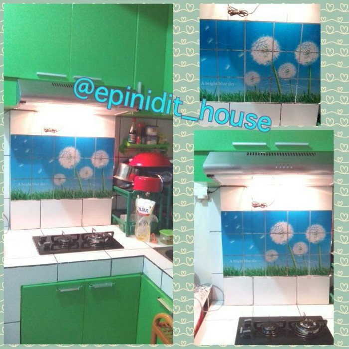 Wallpaper Dinding Dapur Anti Minyak