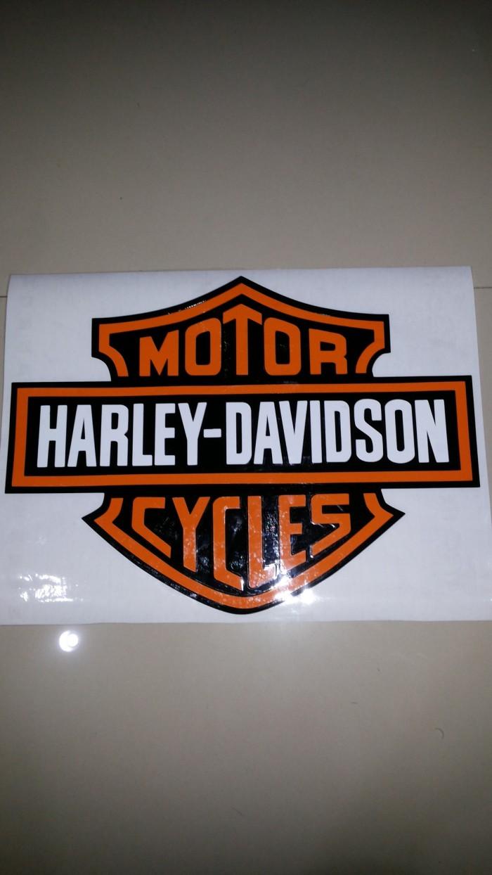 Sticker mobil harley davidson
