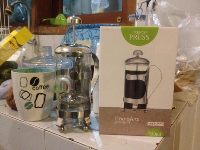 Termurah french press akebonno premium kaca 350ml coffee maker elegan