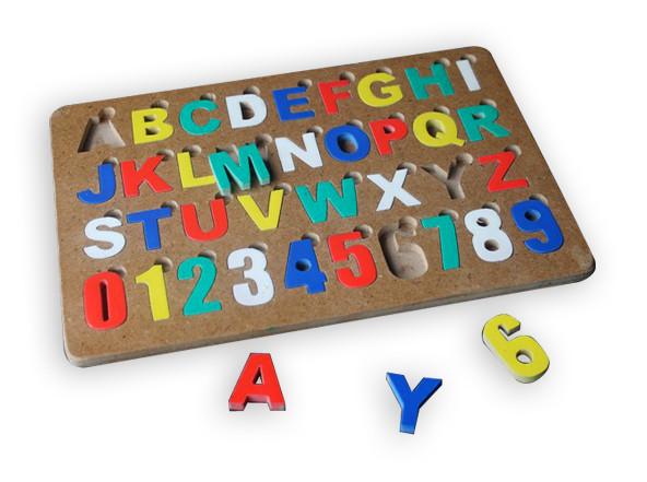 harga Mainan edukatif/edukasi anak-puzzle alphabet angka cat huruf bsr Tokopedia.com