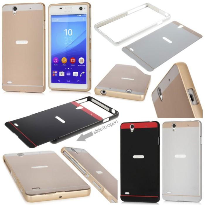 harga Sony xperia c4 / c4 dual e5303 e5333 - metal slide hard case Tokopedia.com