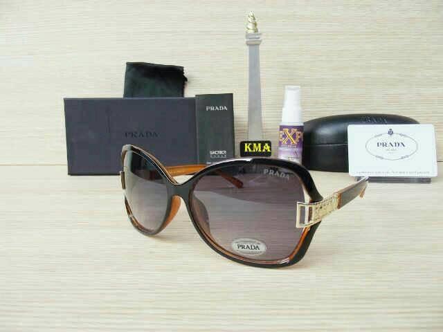 Jual kacamata cewek wanita-prada brown orange - LautanShop  cd585f20a1