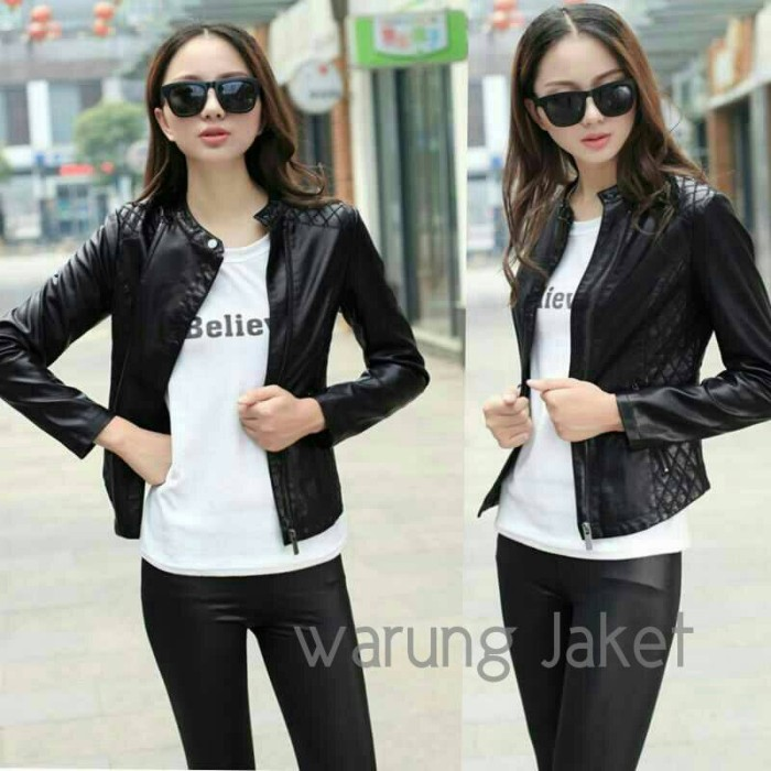 Jual Jaket kulit asli wanita Bikers Style Blazer kulit asli japan ... 27f03f5836