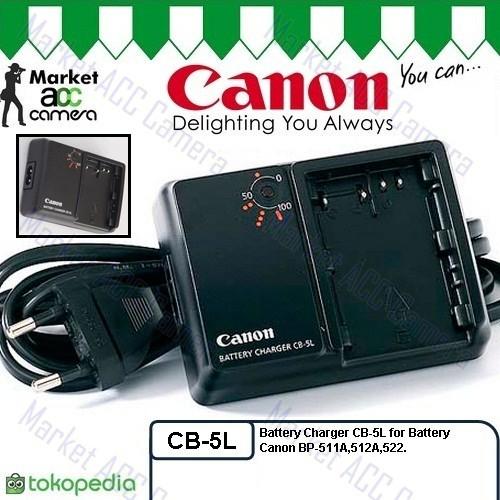 harga Charger canon cb-5l for bp-511/511a (eos 5d 10d 20d 30d 40d 50d) Tokopedia.com