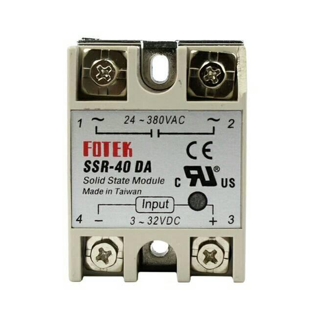 SSR-40DA 40A SSR Solid State Relay Bolts Aluminium Heat Sink 240v DC AC Switch