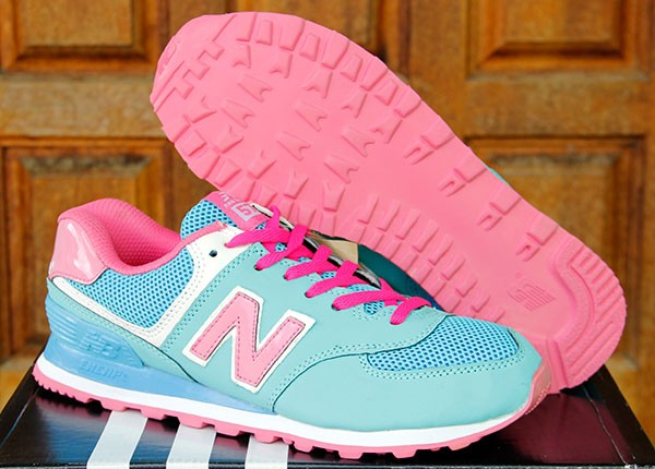 Sepatu Running Olahraga Wanita Senam New Balance 574 Women Birumuda Pi 854e29a305