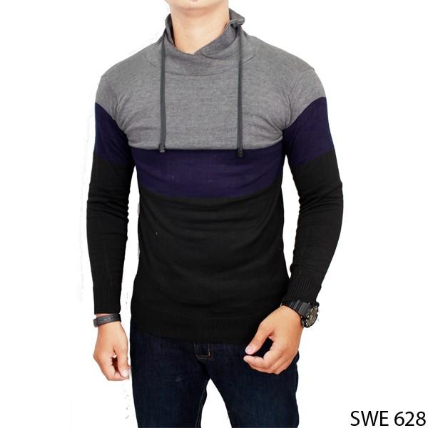 Sweater Rajut Pria Keren Rajut Kombinasi SWE 628