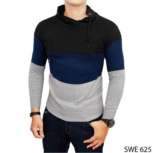 Jual Sweater Pria Keren Rajut Kombinasi SWE 625 - Gudang Fashion - OS | Tokopedia
