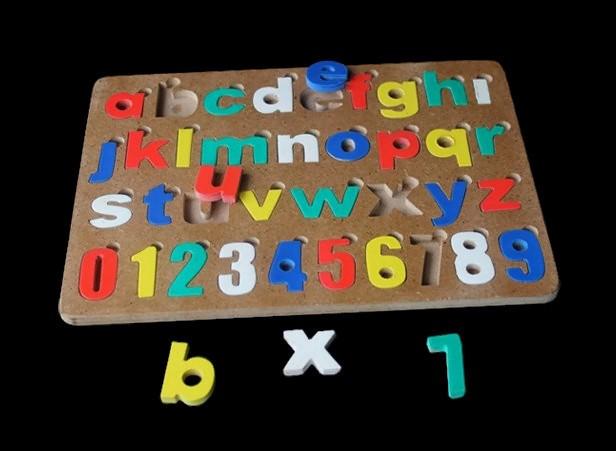 harga Mainan edukasi puzzle alphabet angka cat huruf kecil Tokopedia.com