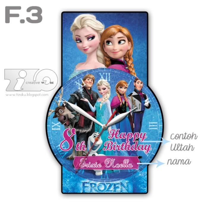 Jual Jam Dinding Karakter Favorit Anak - Frozen Character Clock FCC ... ffc52178f6
