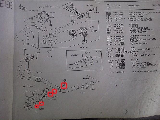 harga Baut dan mur knalpot kawasaki ninja 250r original ready stock Tokopedia.com
