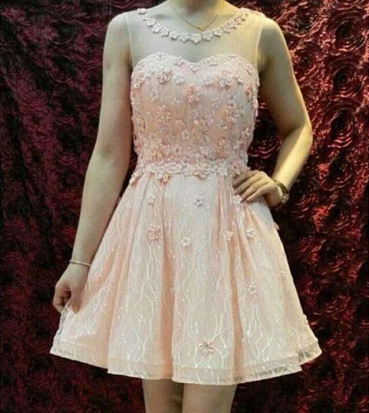 Jual Gaun Pesta Pendek Brokat Tile Tutu Bridesmaid Dress Pesta Korea