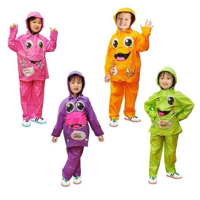 harga Jas hujan setelan jaket celana lucu anak-anak Tokopedia.com