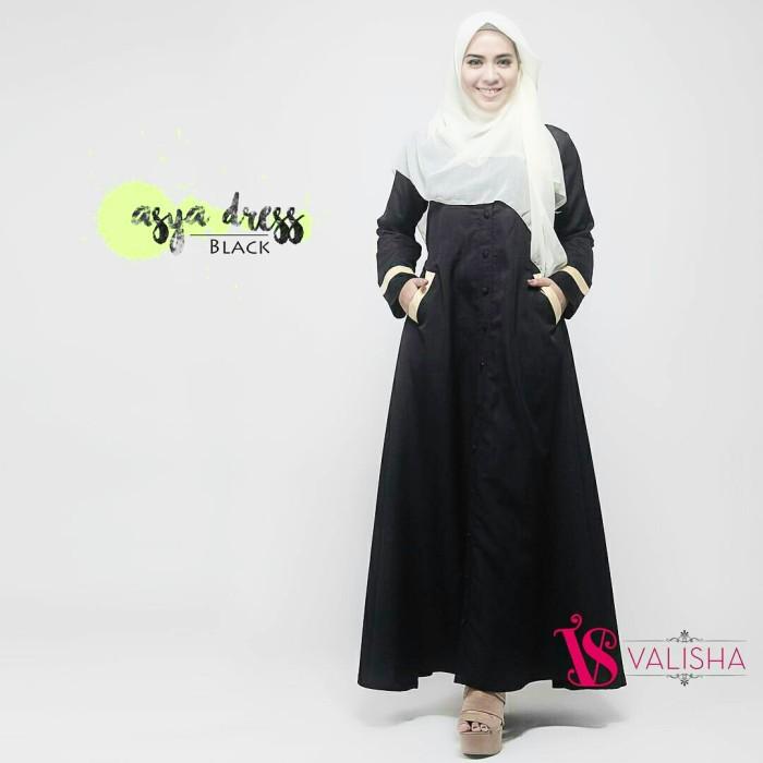Jual Gamis Dress Katun Premium Polos Hitam Murah Elegan Busui