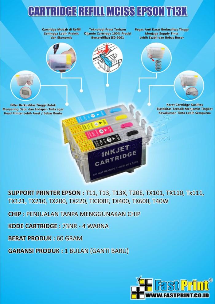 harga Fast print cartridge mciss epson t13x, t13, t11, t20e, t40w tanpa chip Tokopedia.com