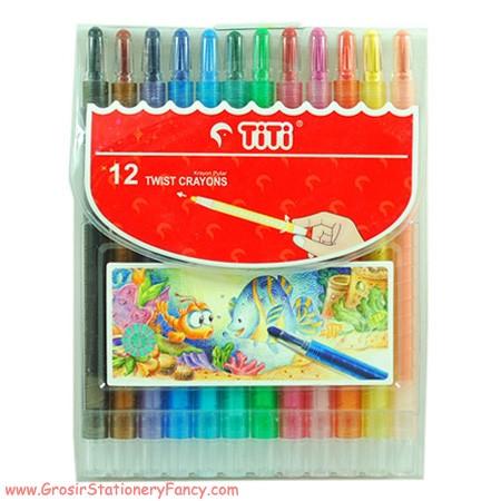 Titi Crayon Putar Panjang 12 Warna Twist