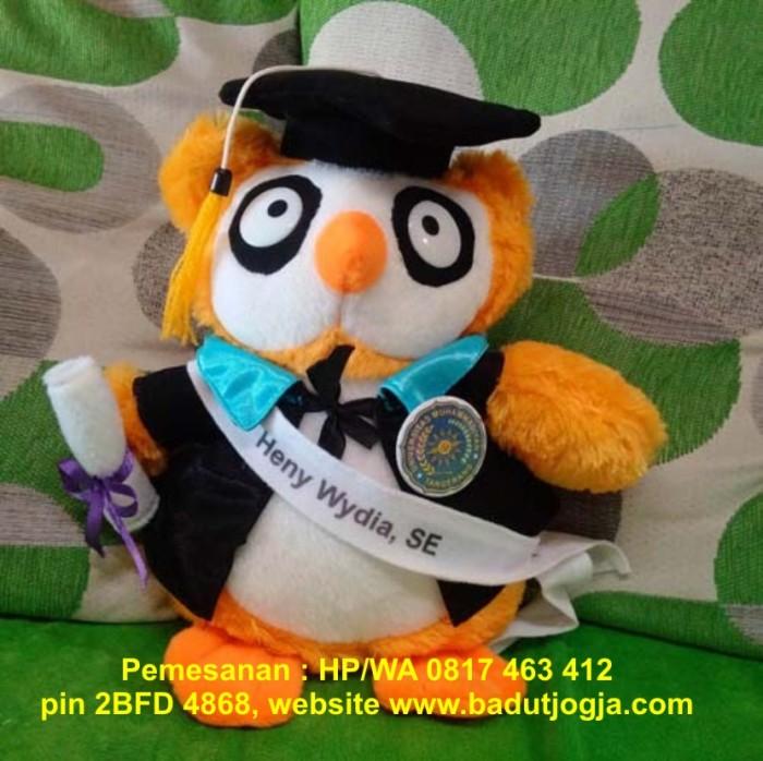 harga Boneka wisuda owl pls pin dan bordir nama 30 cm Tokopedia.com