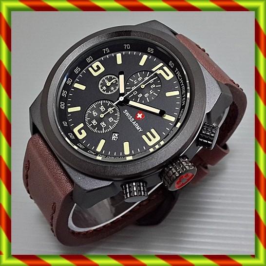 ... harga Swiss army 3126 kulit coklat   jam tangan pria rolex expedition ac sa Tokopedia.