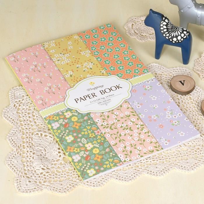 harga World of flowers wrapping paper book / kertas kado Tokopedia.com