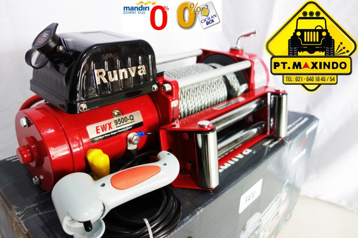harga Red edition : runva ewx-9500-q (43 ton) super high speed winch Tokopedia.com
