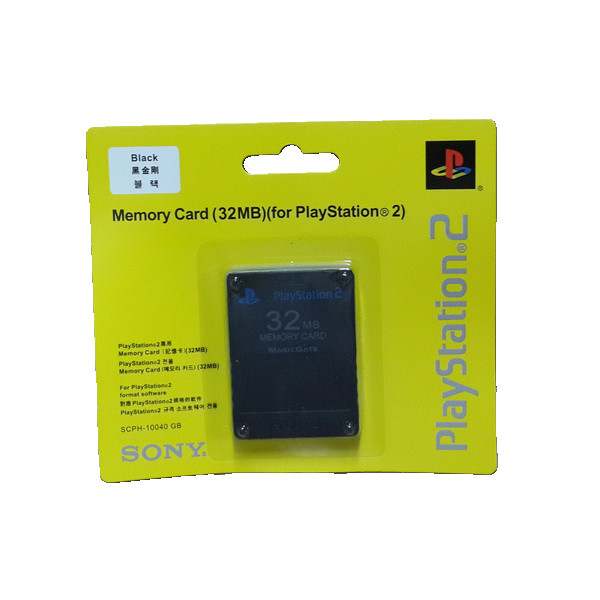 Memory card sony ps2 32 mb - black
