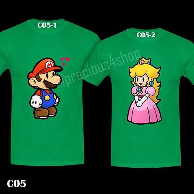 harga Super Mario Bros & Princess Peach Love | Kaos Couple | Family T-shirt Tokopedia.com