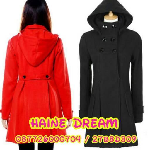 Jual Jaket Coat Baju Hangat Wanita Seongnyu Hitam Merah full furing ... 17f1cf1e4c