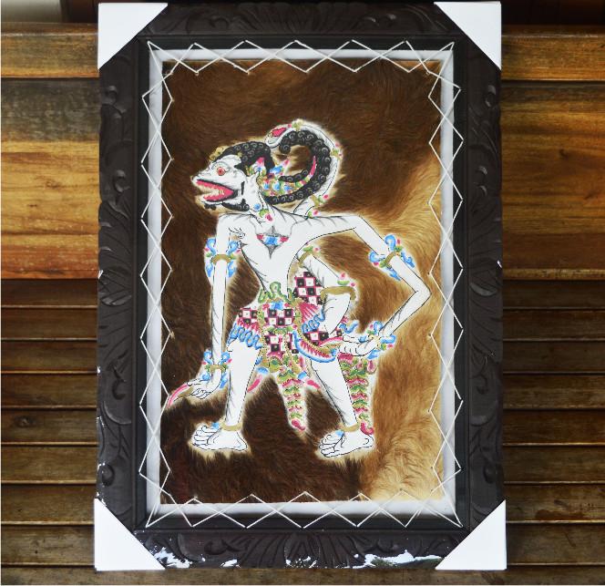 harga Lukisan wayang raden hanoman ukuran besar kulit kambing asli Tokopedia.com