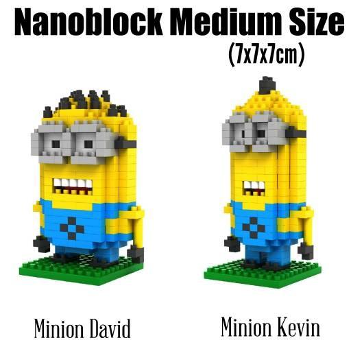 harga Nanoblock minion david kevin ( shinchan mr bean avenger kitty Tokopedia.com