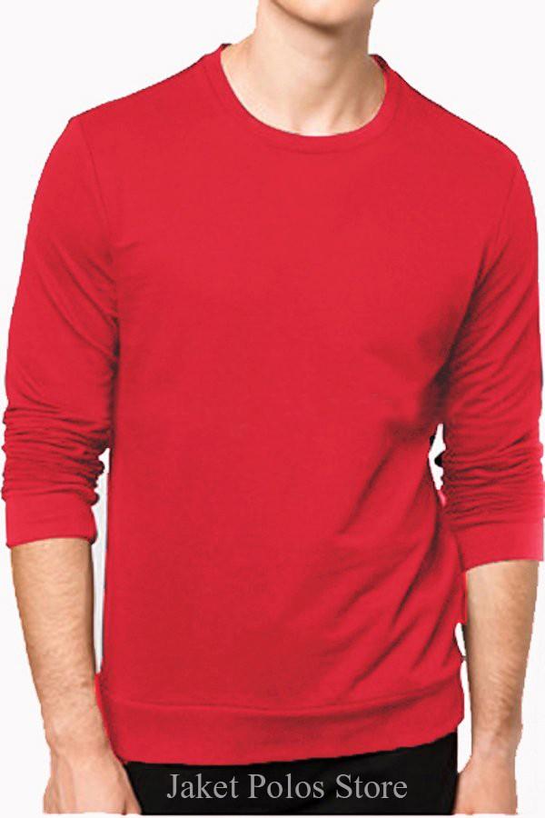 Long sleeve kaos polos basic sweater oblong lengan panjang size xl