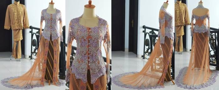 Jual Kebaya Pengantin Modern Ekor Brokat Tile Payet Akad Nikah Modern Baru Dki Jakarta Gaun Baru Tokopedia