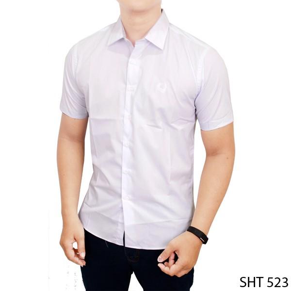 Foto Produk Kemeja Polos Buat Pria Kerja Katun Putih SHT 523 - M dari Gudang Fashion