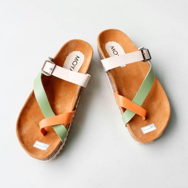 harga Sandal / Sendal Wanita Santai Flat Flatbed Cross Tricolor Tokopedia.com