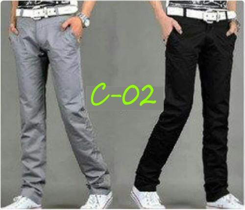 harga C-02 grey - celana pria cowok slimfit chino berkualitas korea casual Tokopedia.com