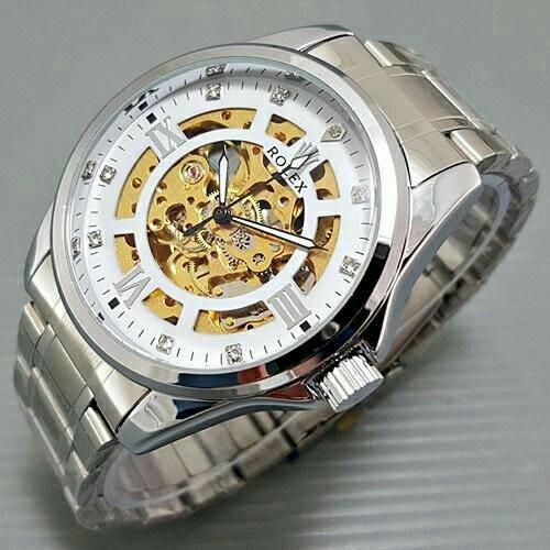 Jual Jam tangan Rolex skeleton transparan tipe B automatic rantai ... 435a6c9106