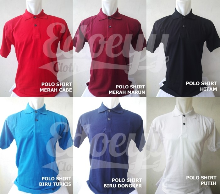 Jual Polo Shirt Cotton Pique   Baju Kaos Kerah   katun 091759e899