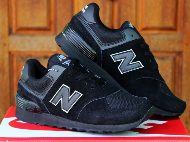 Jual Sepatu Sekolah New Balance 574 Anak Hitam (Anak 58ac92ca48