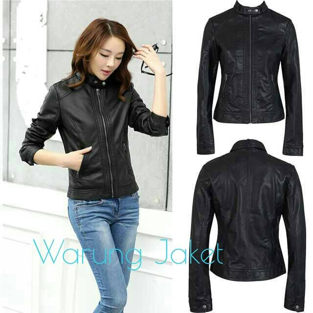 harga Jaket kulit asli garut simply woman genuine leather premium Tokopedia.com