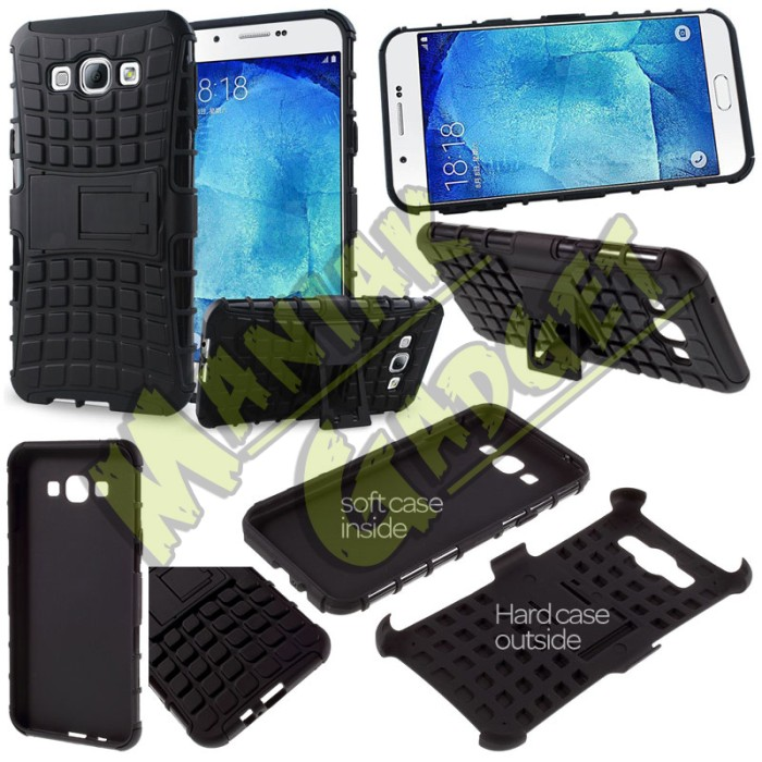 harga Jual stand case heavy duty rugged armor samsung galaxy a8 murah Tokopedia.com